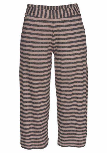 Vivance Dreams Capri-Pyjama mit gestreifter Culotte