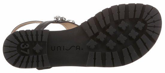 Unisa Sandale, mit Schmucksteinen