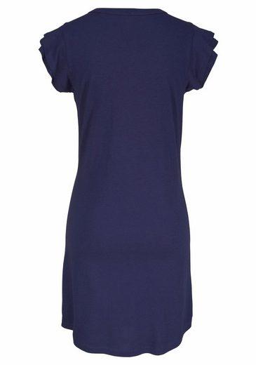 s.Oliver RED LABEL Bodywear Nachthemd mit Volants