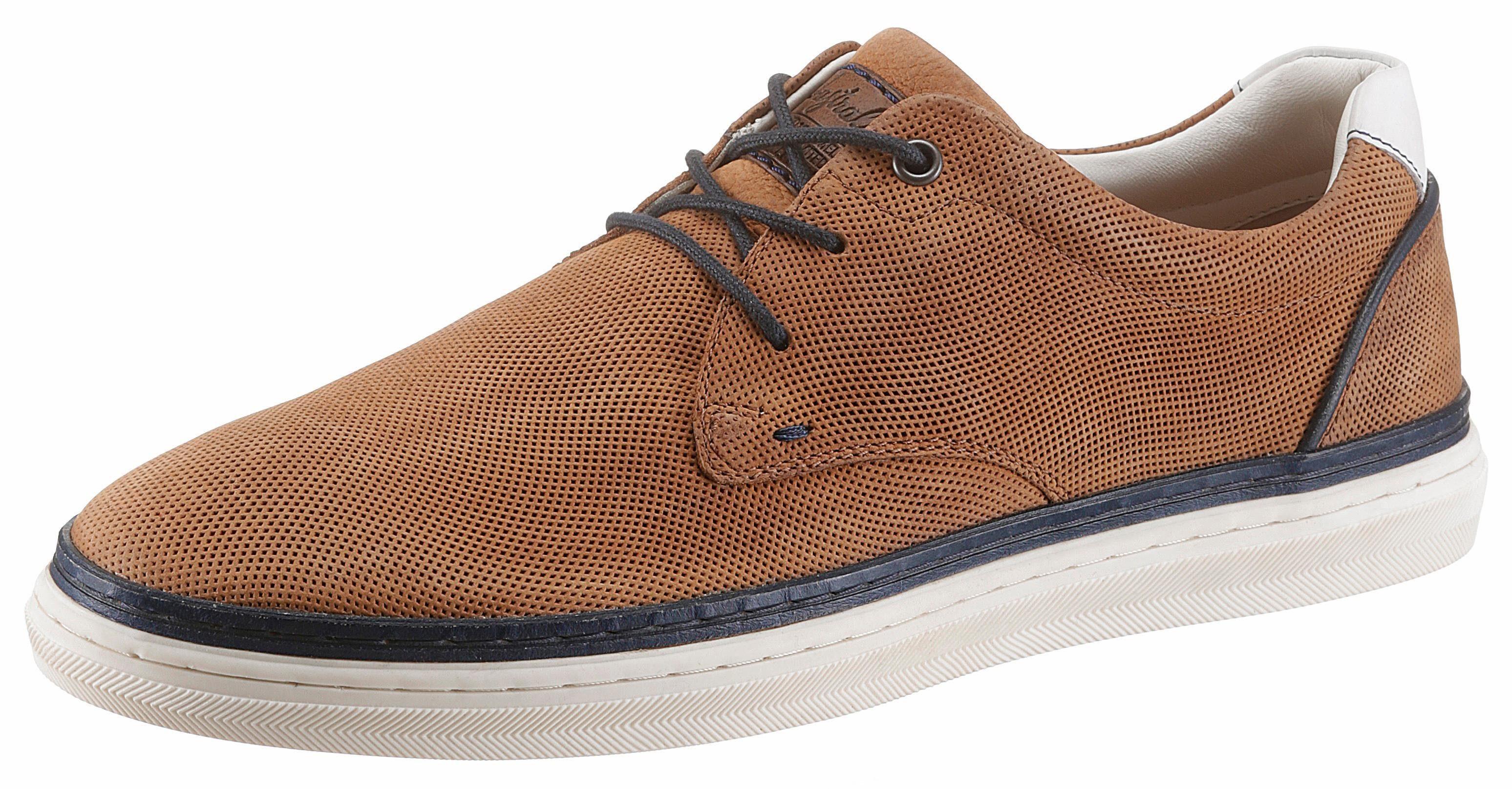 Australian Sneaker, mit Perforation online kaufen  braun-navy