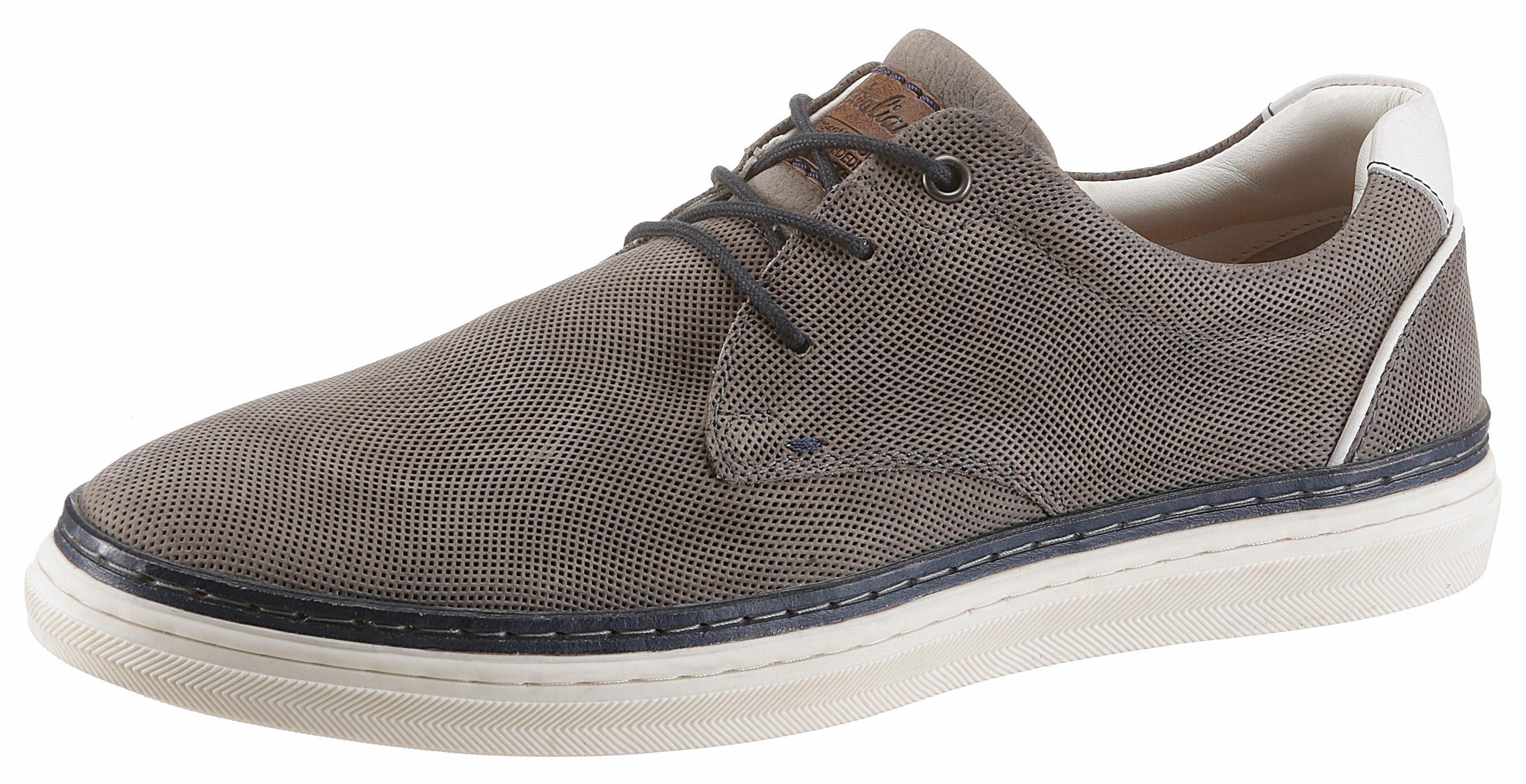 Australian Sneaker, mit Perforation online kaufen  grau-navy