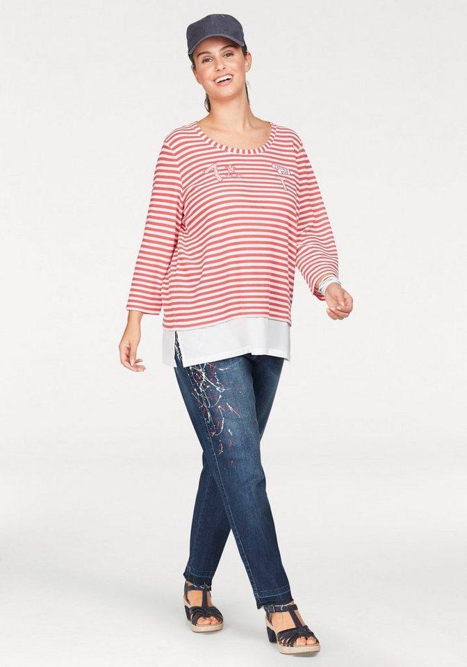 NoSecret 3 4-Arm-Shirt mit coolen Patches   Chiffonsaum online ... 32a5fefaf1