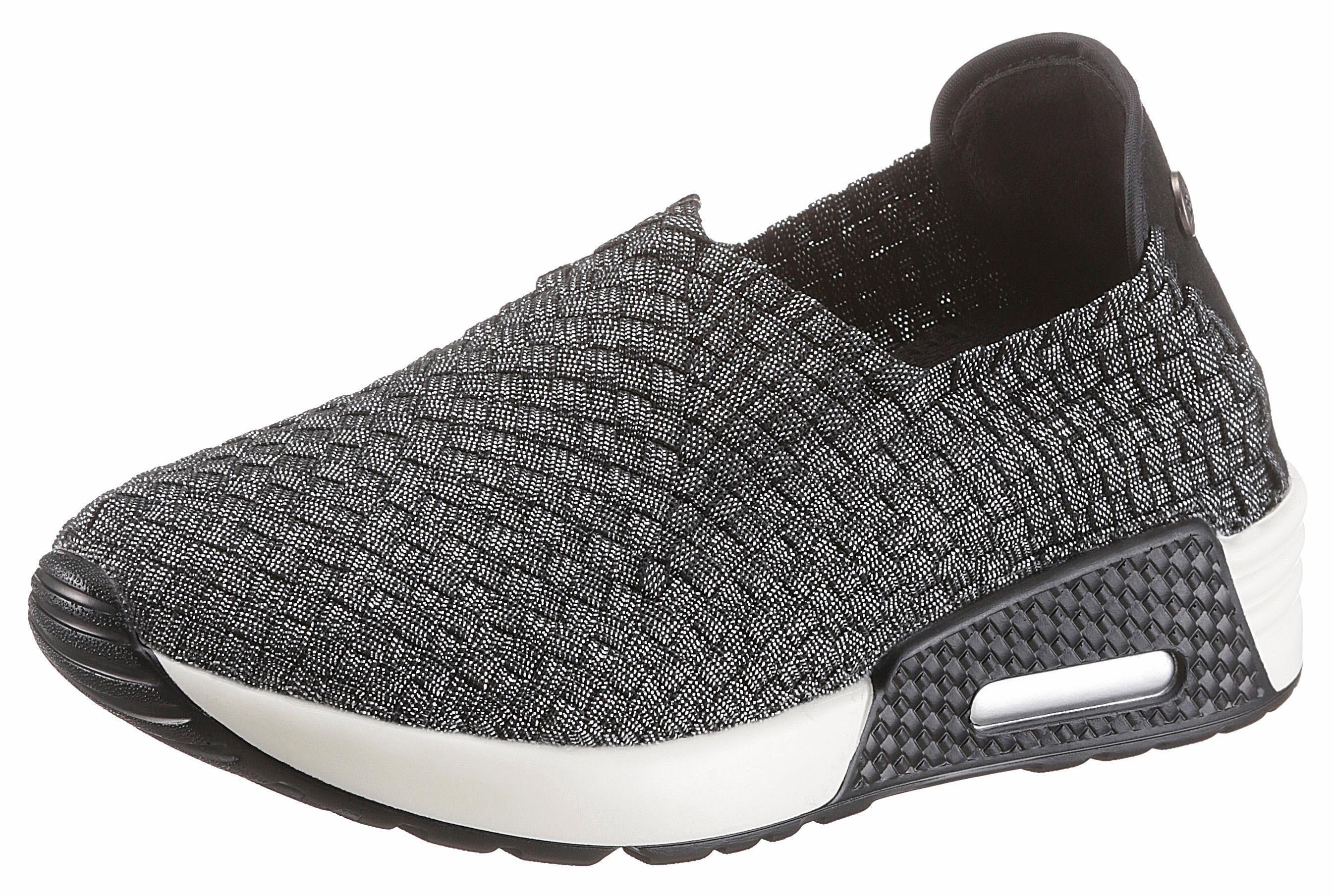 BERNIE MEV Best Gem Sneaker, mit trendigen Metallic-Schimmer online kaufen  silberfarben-schwarz