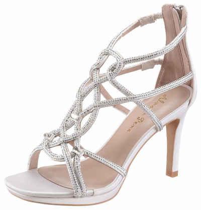 Alma en Pena High-Heel-Sandalette, mit zarten Riemchen, weiß, weiß