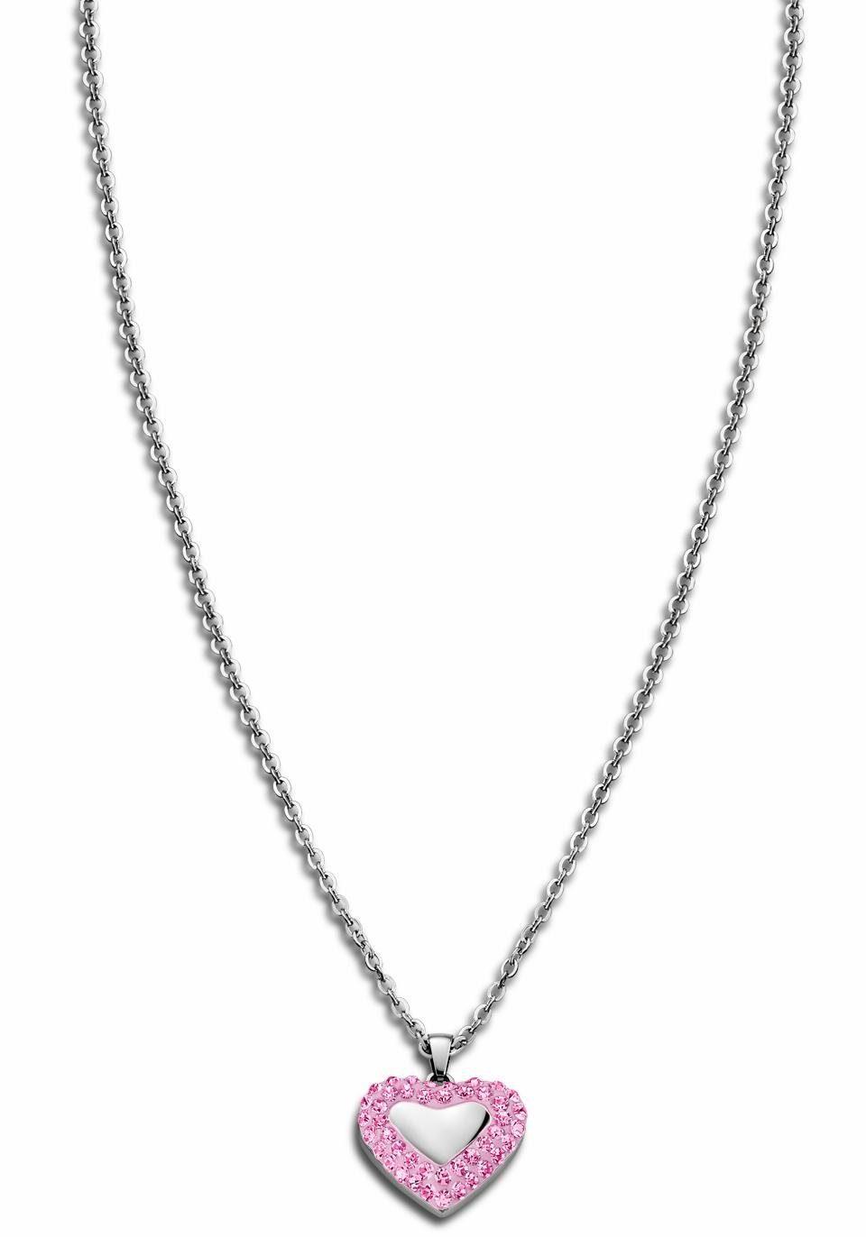 Lotus Style Herzkette »Rainbow, LS1768-1/2« mit Glassteinen