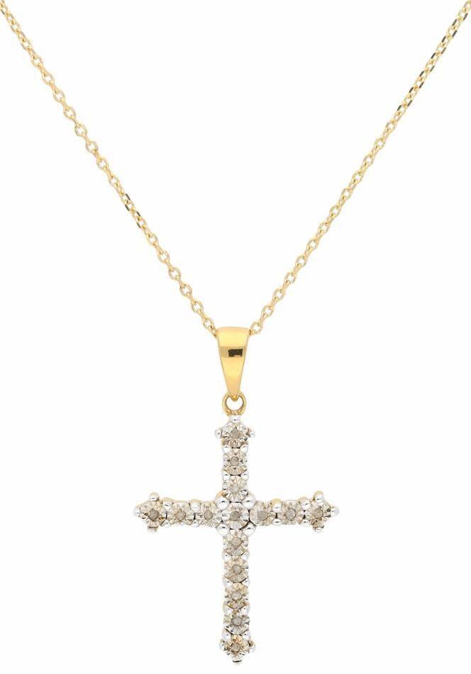 Firetti Kreuzkette mit Diamanten