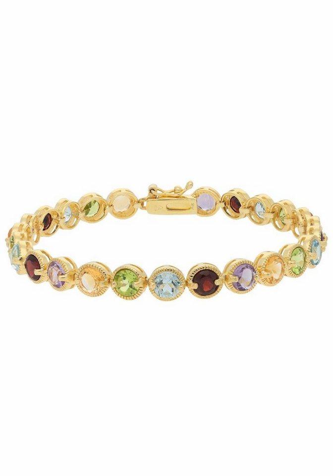 Vivance jewels Armband, mit Amethyst, Granaten, Peridot, Citrin und Blautopas (beh.) - Preisvergleich