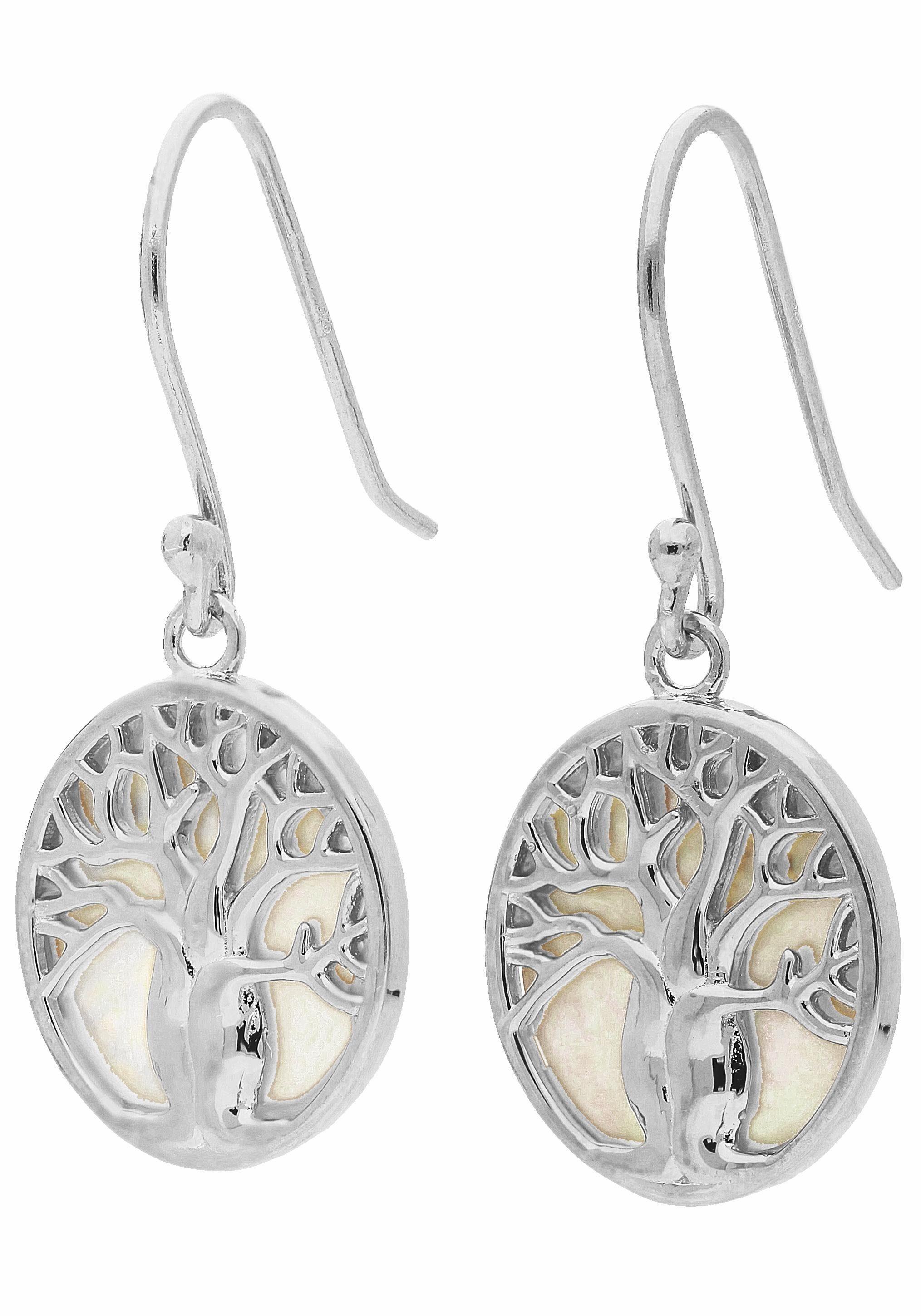 Firetti Paar Ohrhaken »Lebensbaum« mit Perlmutt