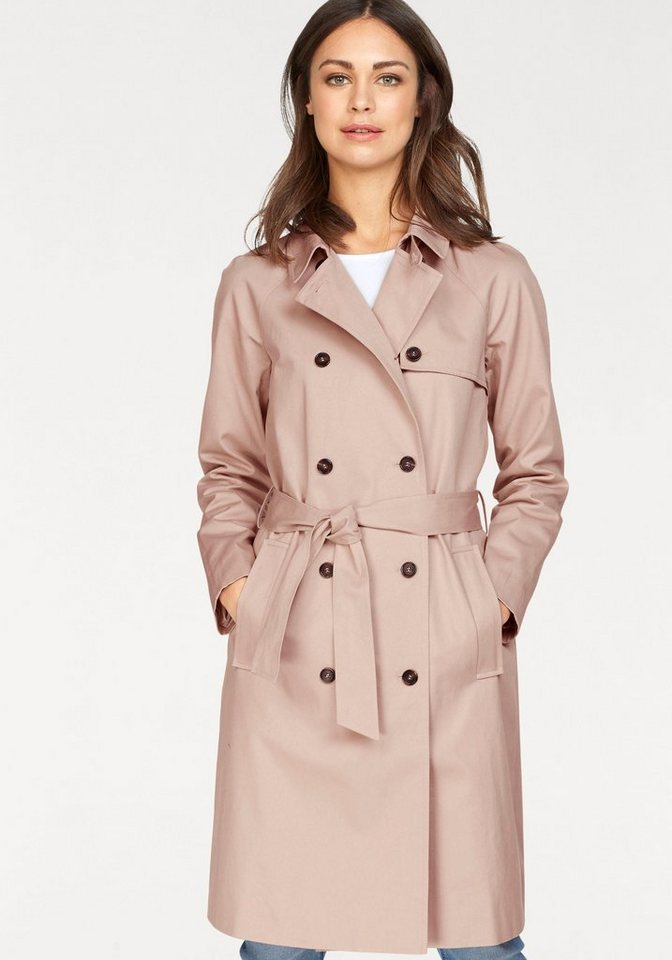 Boysen´s Trenchcoat 2-reihig im klassischem Style   Bekleidung > Mäntel > Trenchcoats   Rosa   Baumwolle   Boysen´s