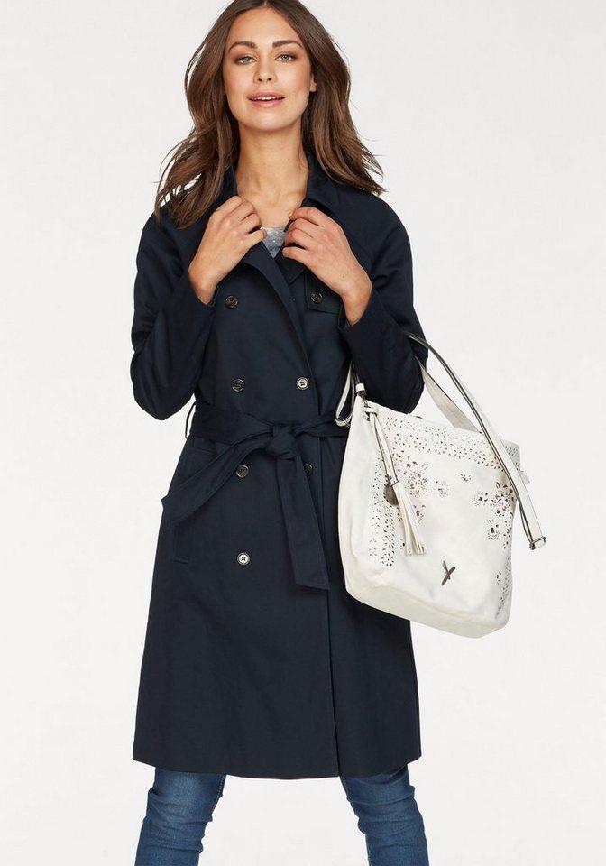 Boysen´s Trenchcoat 2-reihig im klassischem Style   Bekleidung > Mäntel > Trenchcoats   Blau   Boysen´s