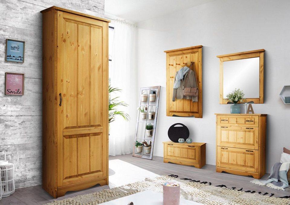 home affaire dielen set trinidad 3 teilig bestehend aus schuhschrank schuhbank und spiegel. Black Bedroom Furniture Sets. Home Design Ideas