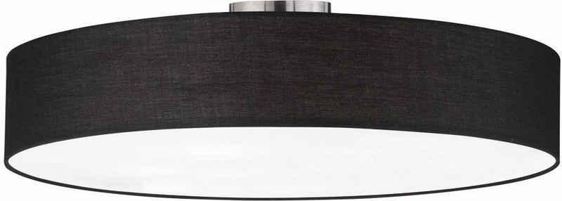 TRIO Leuchten Deckenleuchte »Hotel«, Deckenlampe Ø 65 cm mit Stoff-Schirm, Leuchtmittel tauschbar