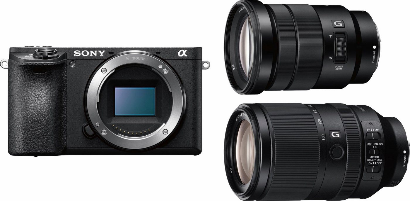 Systemkameras - Sony »Alpha ILCE 6500TBDI« Systemkamera (24,2 MP, WLAN (Wi Fi), NFC, Integrierter 5 Achsen Bildstabilisator)  - Onlineshop OTTO
