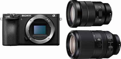 Sony »Alpha ILCE-6500TBDI« Systemkamera (SEL-P18105G, SEL70300G, 24,2 MP, WLAN (Wi-Fi), NFC)