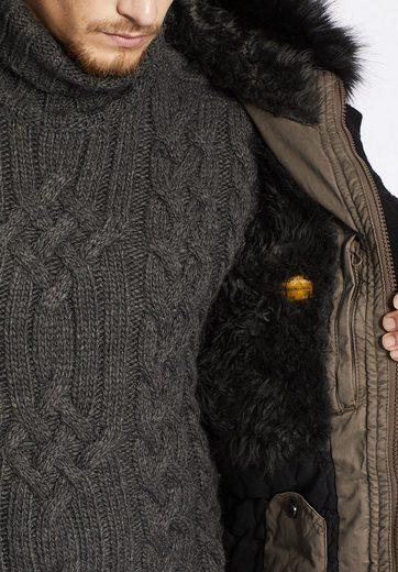 khujo Winterjacke BIRD, mit austauschbaren Patches