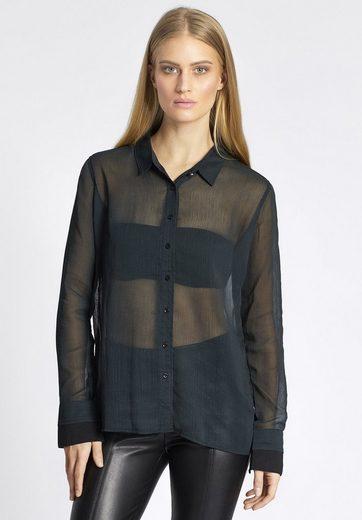 khujo Klassische Bluse »BELATRIX« mit leichter Transparenz