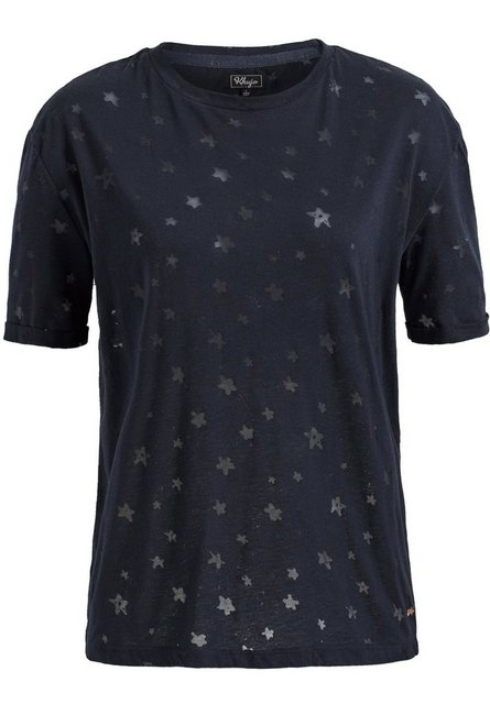 khujo T-Shirt »DREW« mit Muster durch Transparenz