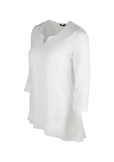 bianca Blusenshirt SINEA, aus Chiffon mit plissiertem Rücken