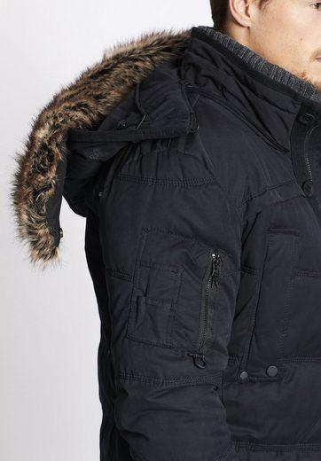 khujo Winterjacke COIN WITH RIB COLLAR, mit herausnehmbarem Strickkragen
