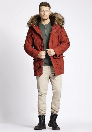 Khujo Winter Jacket Iron, With Detachable Faux Fur On The Hood