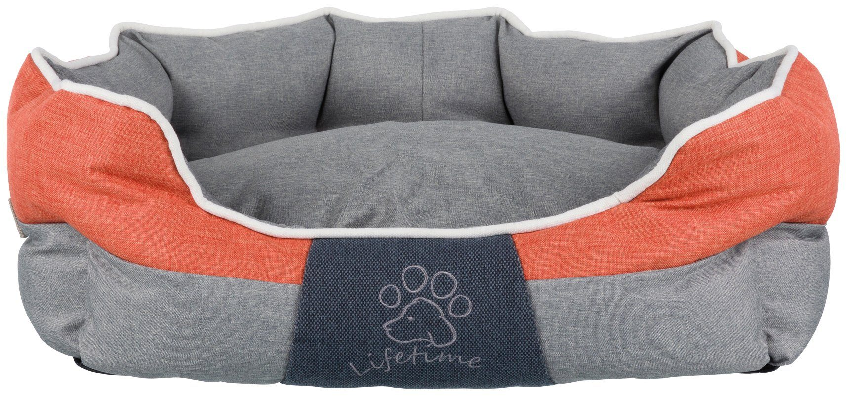 TRIXIE Hundebett und Katzenbett »Joris«, BxT: 60x50 cm, grau/orange