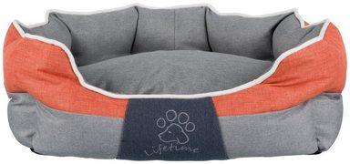 TRIXIE Hundebett und Katzenbett »Joris«, BxT: 75x60 cm, grau/orange