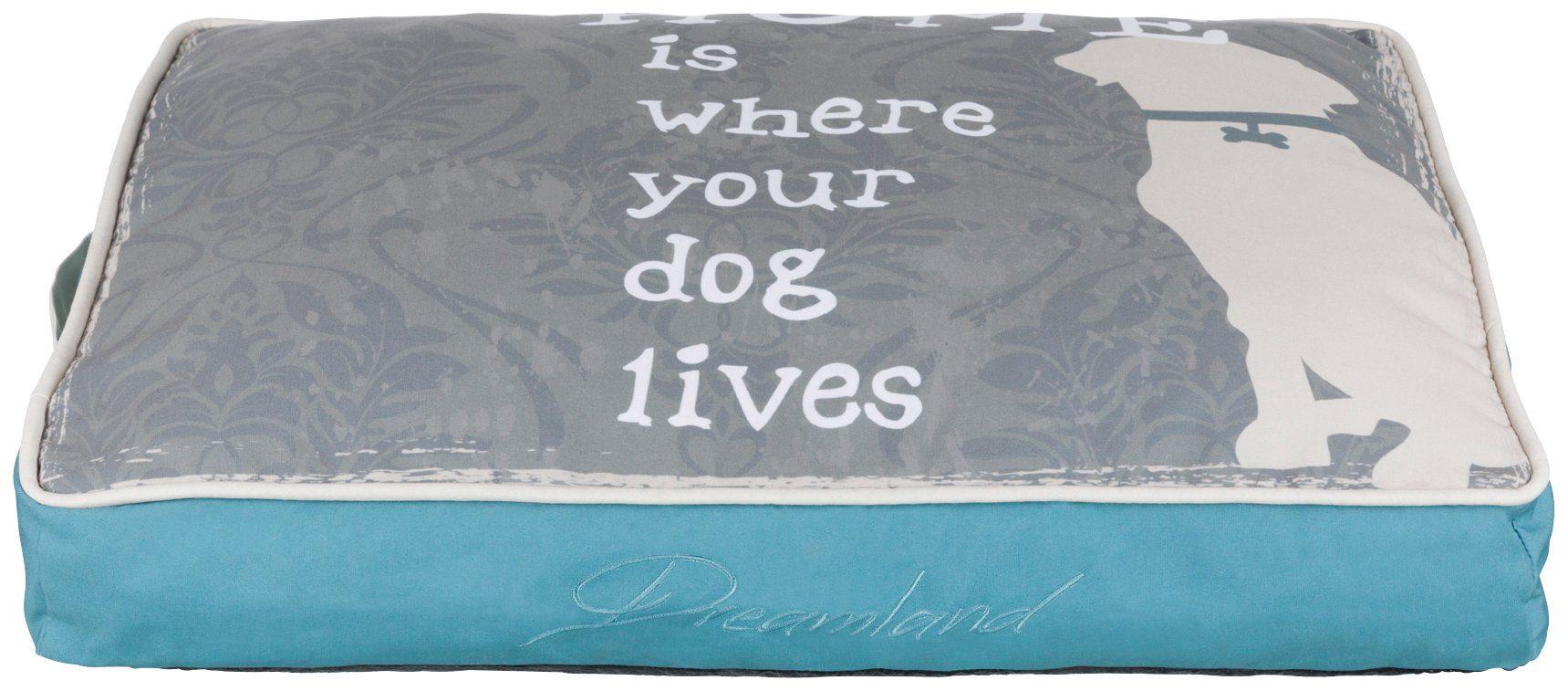 TRIXIE Hundekissen und Katzenkissen »Buddy«, BxT: 70x50 cm, petrol/grau