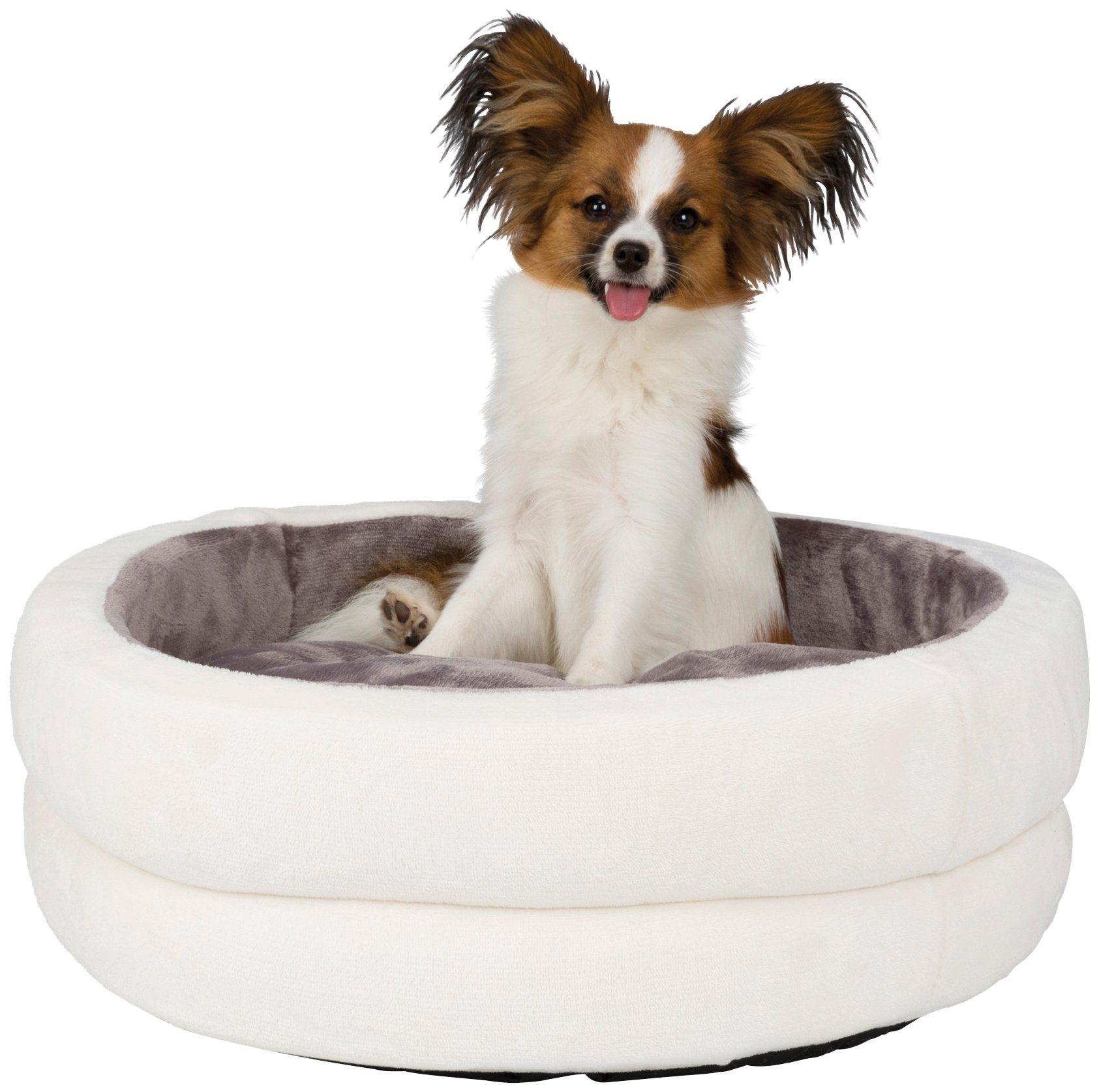 TRIXIE Hundebett und Katzenbett »Levi«, Ø: 55 cm, creme/grau
