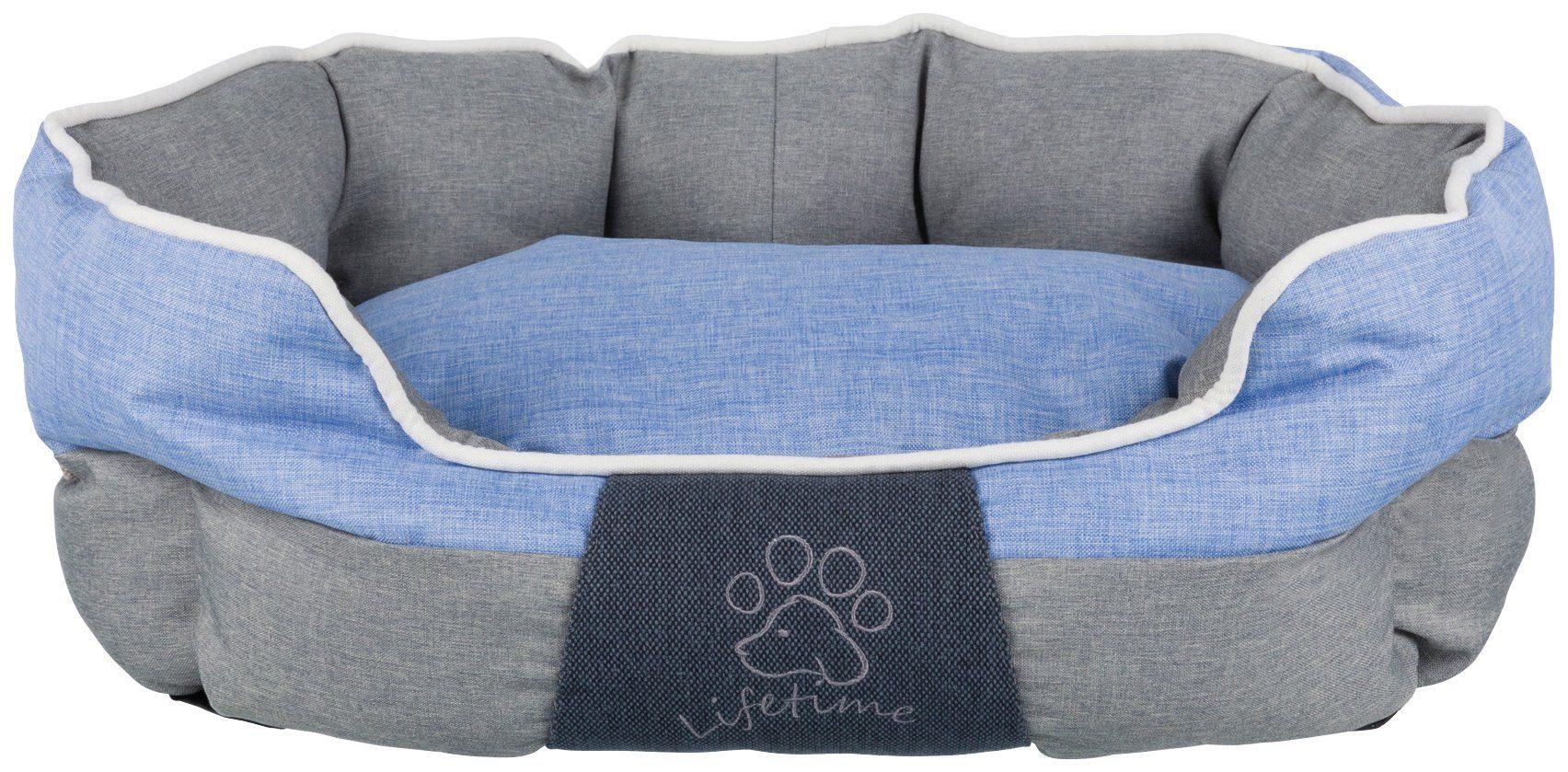 TRIXIE Hundebett und Katzenbett »Joris«, BxT: 75x60 cm, grau/blau