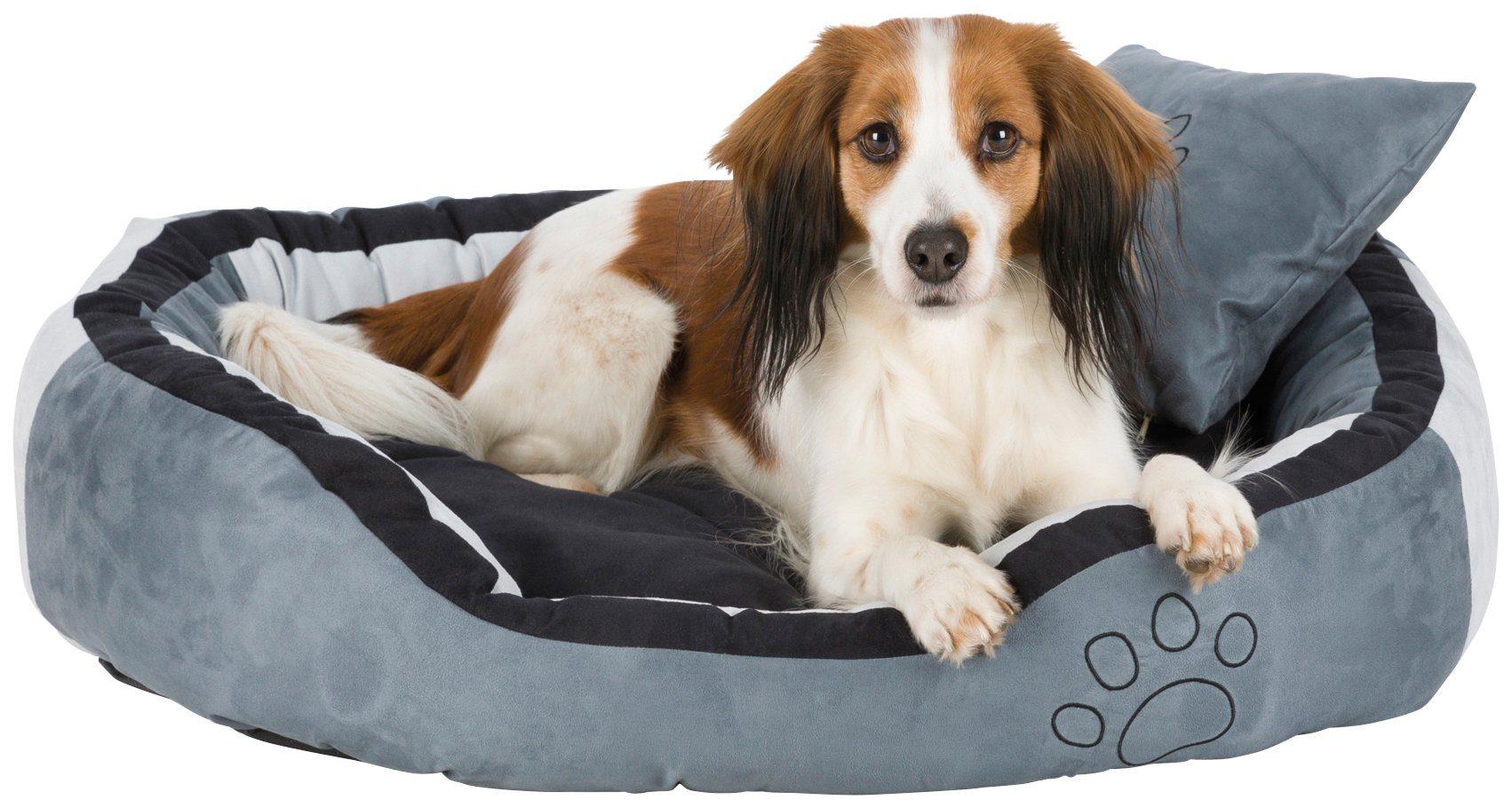 TRIXIE Hundebett und Katzenbett »Bonzo«, BxT: 80x65 cm, grau/schwarz