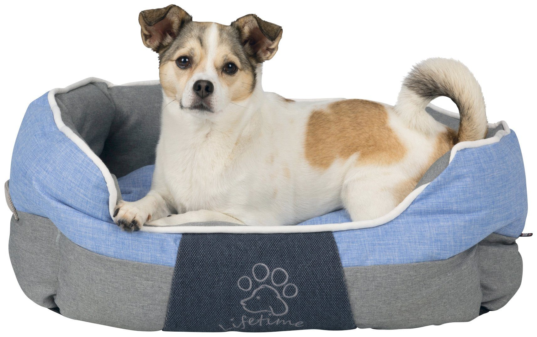 TRIXIE Hundebett und Katzenbett »Joris«, BxT: 60x50 cm, grau/blau