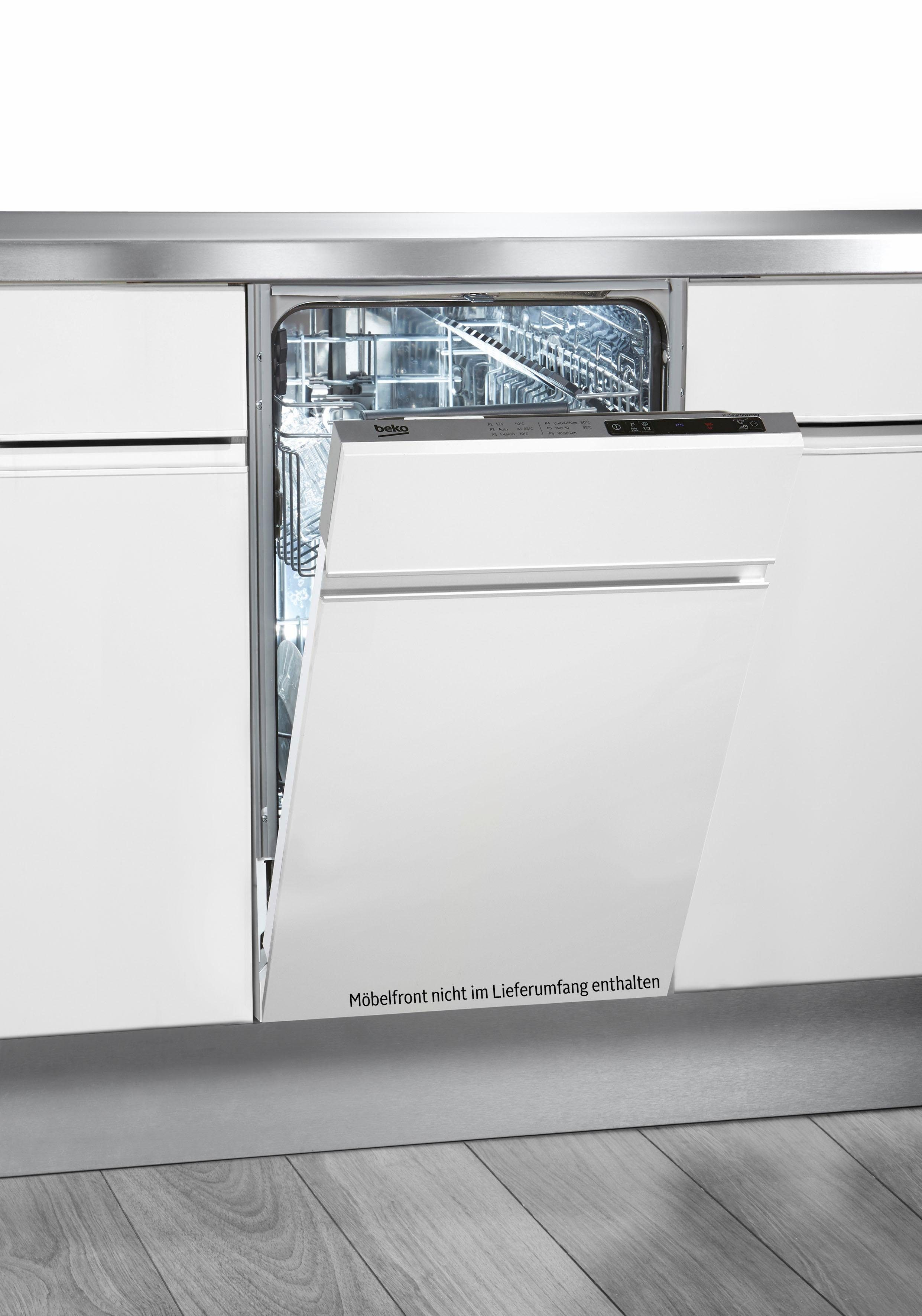 BEKO vollintegrierbarer Geschirrspüler, DIS16010, 10 l, 10 Maßgedecke, Energieeffizienzklasse A+