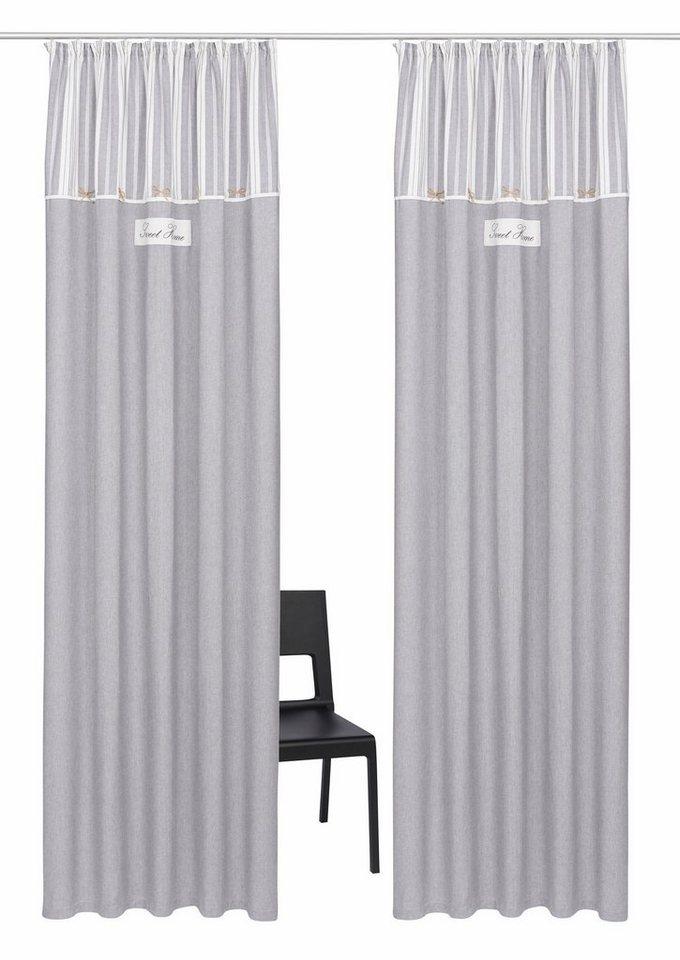 vorhang zella home affaire collection kr uselband 2 st ck online kaufen otto. Black Bedroom Furniture Sets. Home Design Ideas