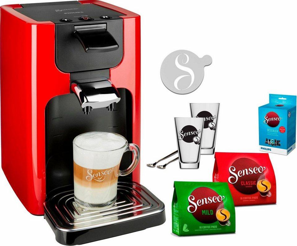senseo kaffeepadmaschine senseo quadrante hd7865 80 inkl. Black Bedroom Furniture Sets. Home Design Ideas