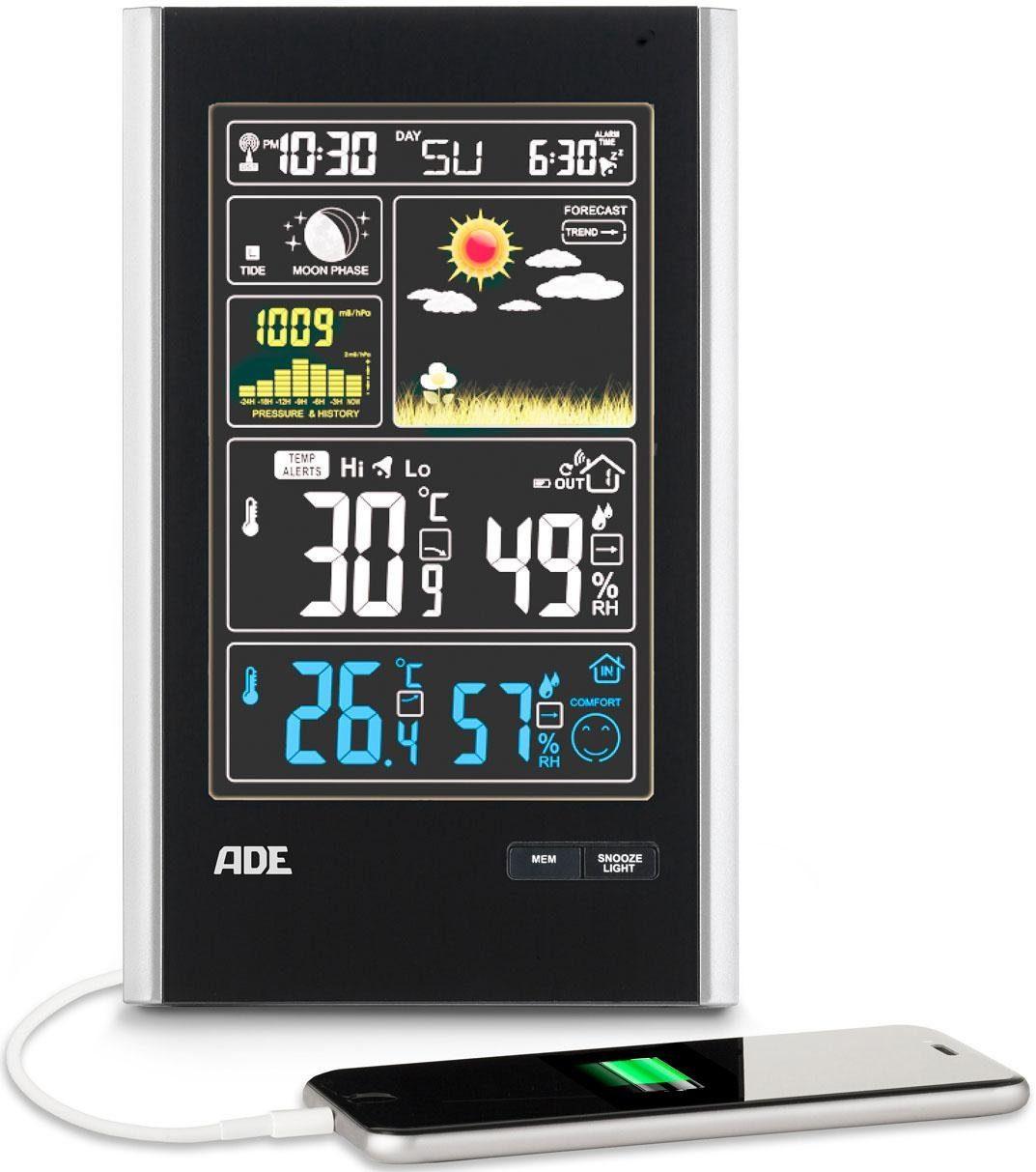 ADE Funk-Wetterstation WS 1600, mit Außensensor