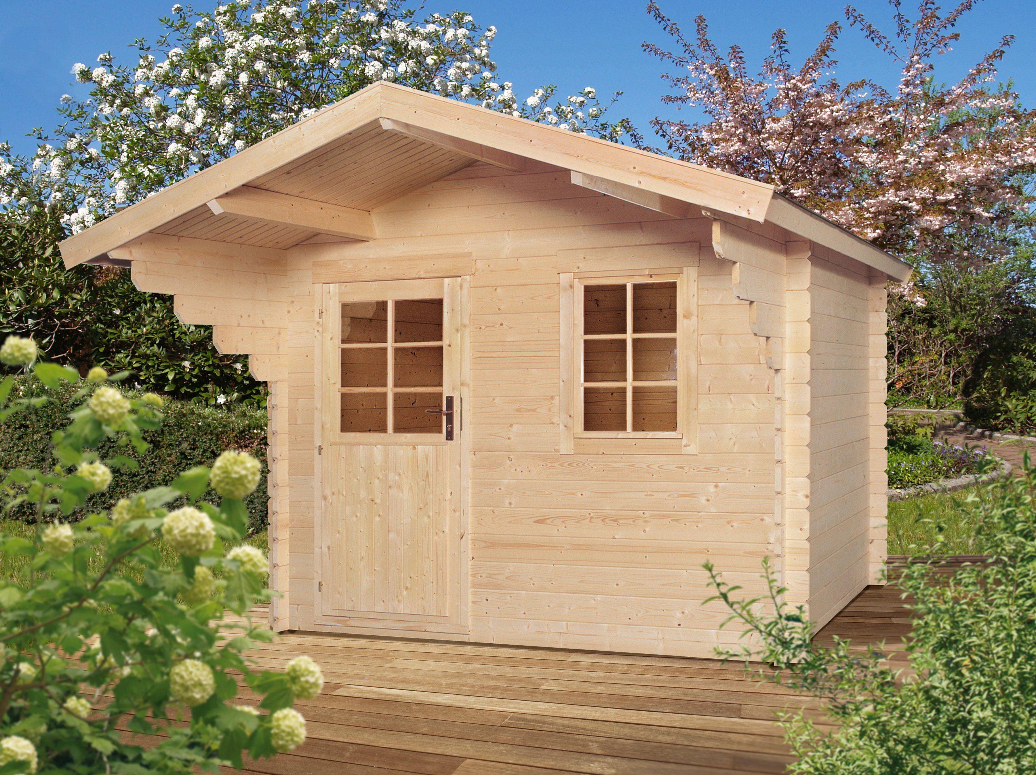 LUOMAN Gartenhaus »Lillevilla 272«, BxT: 320x250 cm, inkl. Vordach und Fußboden