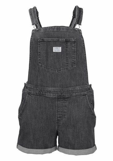 Levi's® Latzhose, Kurze Latz-Jeans