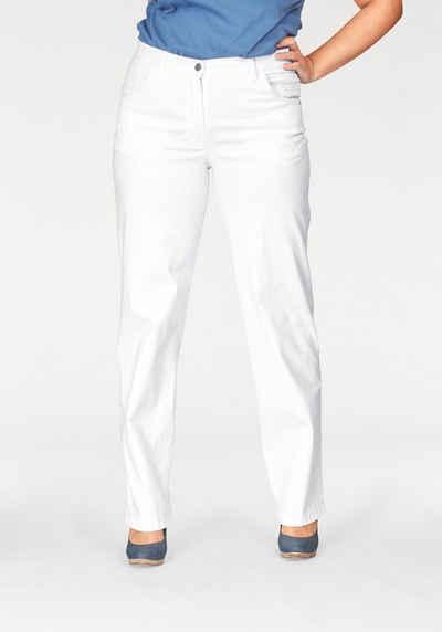 KjBRAND Straight-Jeans »Babsie: bequemer Oberschenkel« Super Stretch