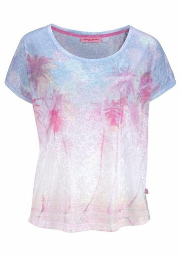 Frieda & Freddies Print-Shirt, in leicht transparenter Optik