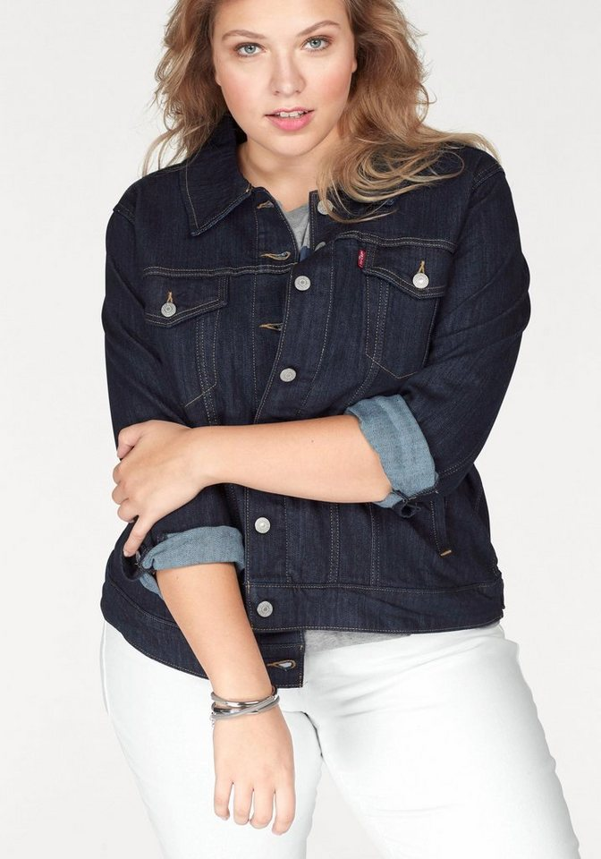 Levi s® Jeansjacke »Plus Size Trucker« Plus Size Jeans Jacket online ... cfe60ad4be