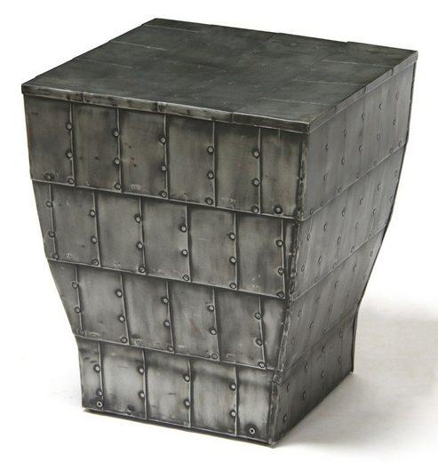 Kasper-Wohndesign Couchtisch Beistelltisch Eisen Hocker grau »Fendro«