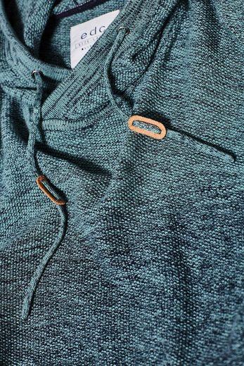 EDC BY ESPRIT Strick-Hoodie aus 100% Baumwolle