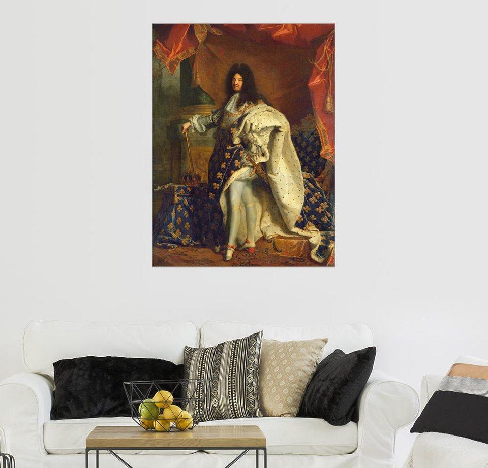 posterlounge wandbild hyacinthe rigaud ludwig xiv in k niglichem gewand online kaufen otto. Black Bedroom Furniture Sets. Home Design Ideas