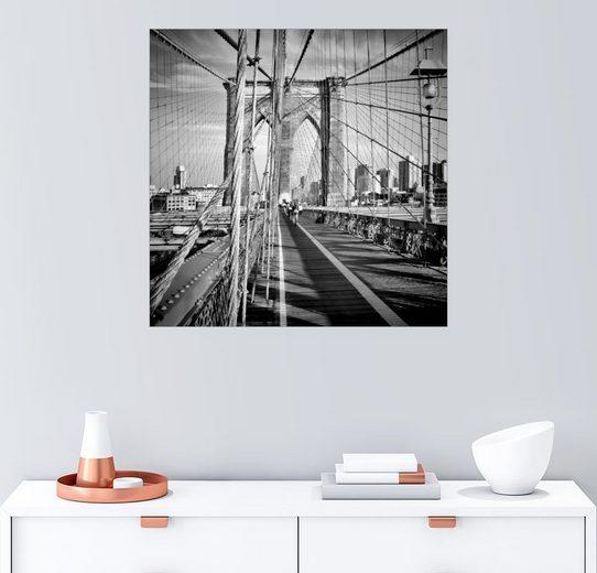 Posterlounge Wandbild - Melanie Viola »NYC Brooklyn Bridge Flair«