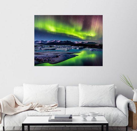 Posterlounge Wandbild - Sascha Kilmer »Island: Polarlichter am Jökulsarlon«