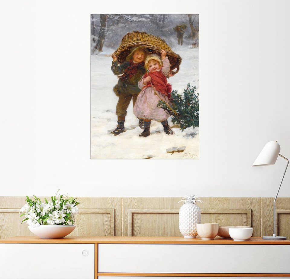 posterlounge wandbild frederick morgan weihnachtszeit. Black Bedroom Furniture Sets. Home Design Ideas