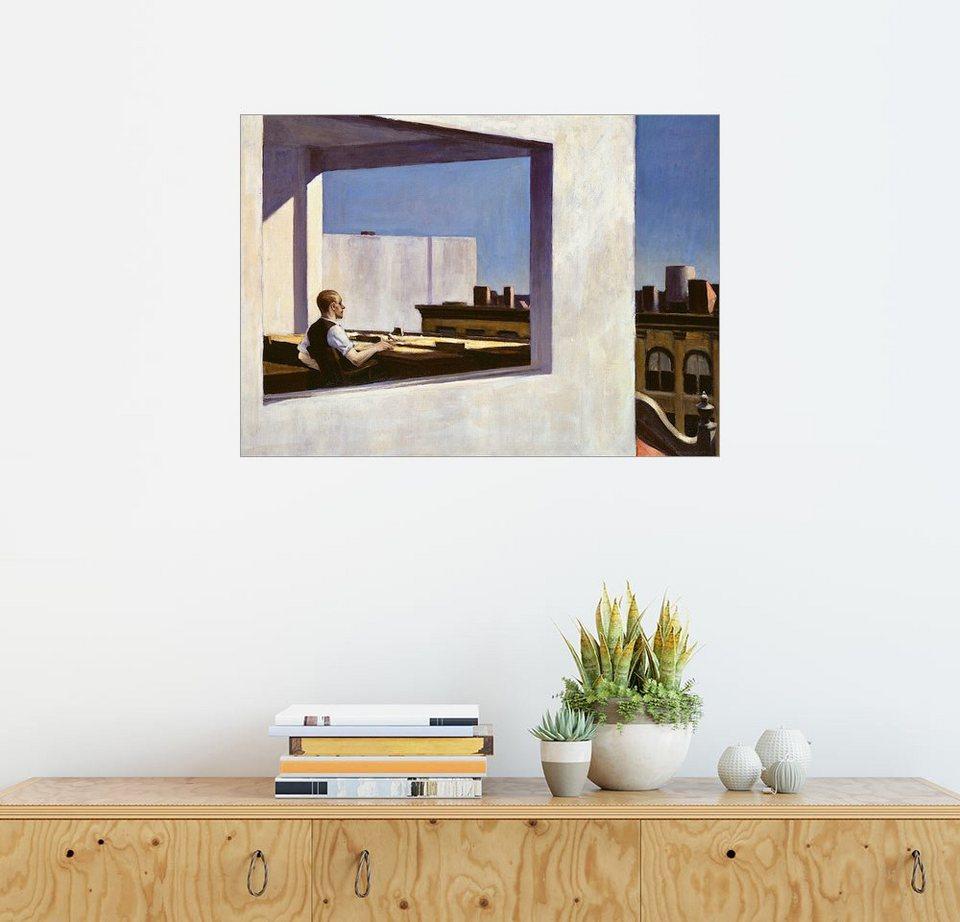 Posterlounge Wandbild Edward Hopper Buro In Einer Kleinen Stadt