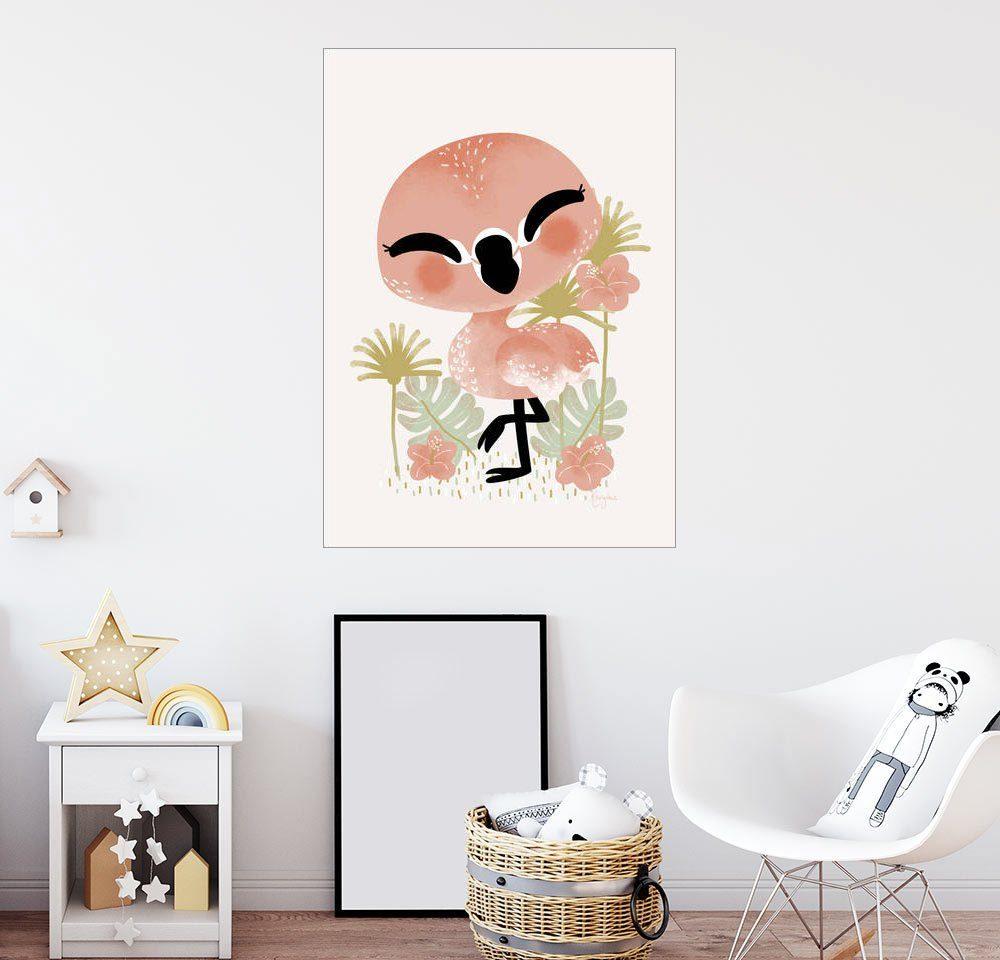 Posterlounge Wandbild - Kanzi Lue »Tierfreunde - Der Flamingo«