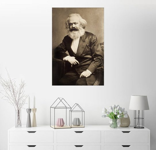 Posterlounge Wandbild »Karl Marx«