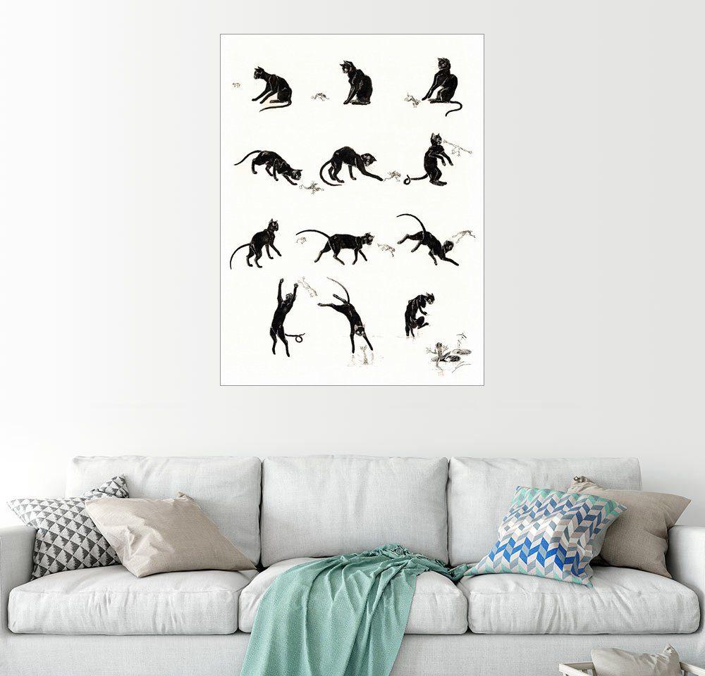 Posterlounge Wandbild - Théophile-Alexandre Steinlen »Die Katze und der Frosch«